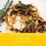 GARLIC CHIVE CAULIFLOWER MASH-BORDER